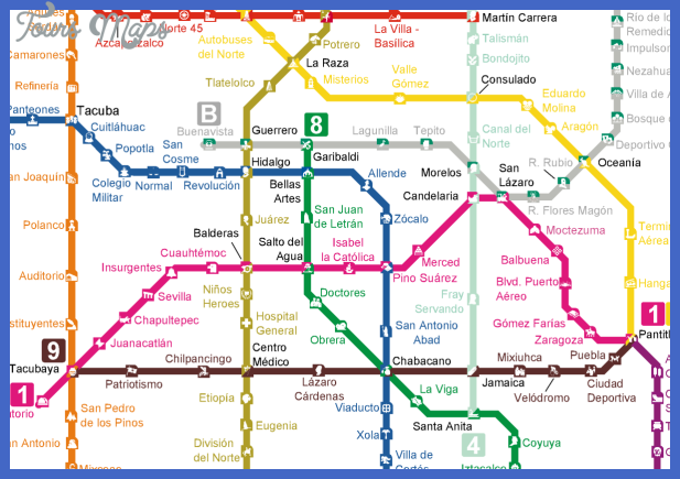 mexico city metro and tren ligero map1 e1397010019250 w1200 Mexico Subway Map