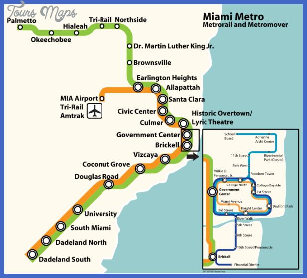 miami metro map Miami Subway Map