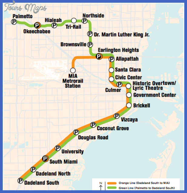 miami metrorail map Miami Subway Map