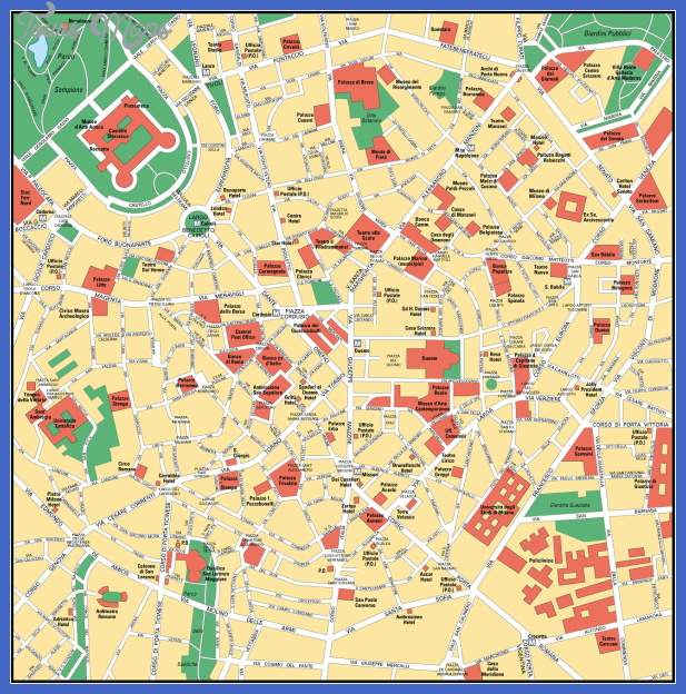 milan center map 2 Milan Map Tourist Attractions