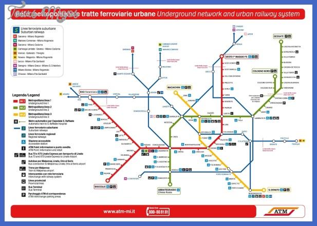 milan metro map  0 Milan Metro Map
