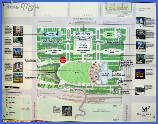 millinneum park chicago map Lincoln Map Tourist Attractions