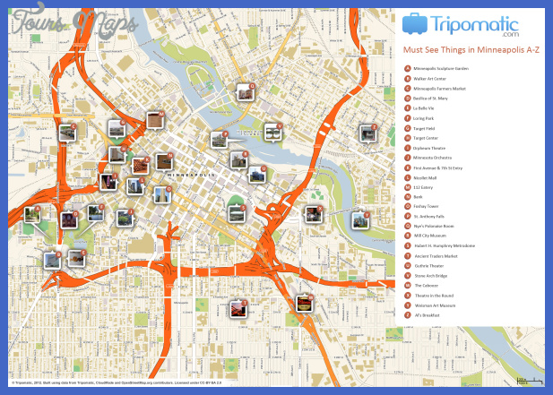 minneapolis map tourist attractions  0 Minneapolis Map Tourist Attractions