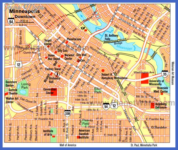 minneapolis map Minneapolis Map Tourist Attractions