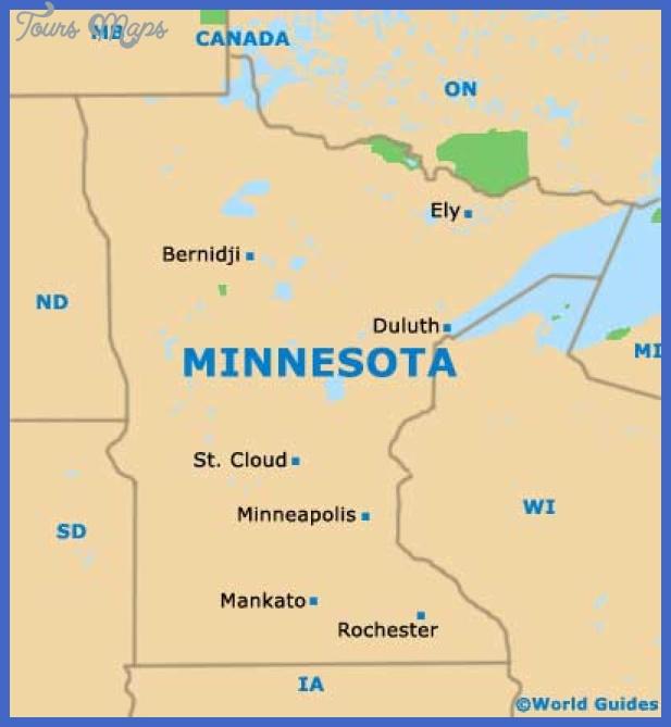 minnesota mn state map Minneapolis Map Tourist Attractions