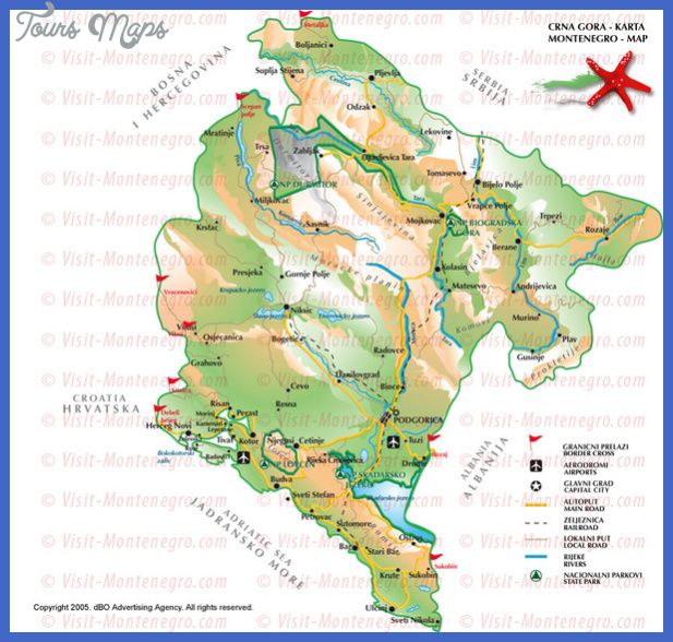 montenegro tourist map 4 mediumthumb Serbia Map Tourist Attractions