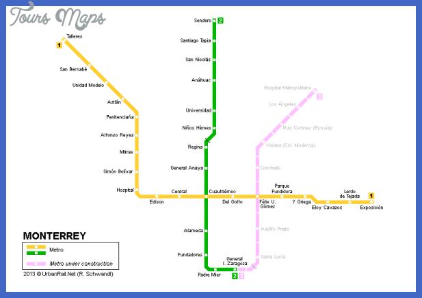 monterrey map Monterey Metro Map