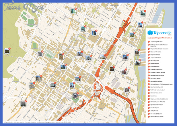 montreal map tourist attractions  3 Montreal. Map Tourist Attractions