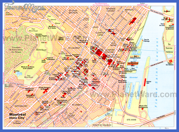 montreal map Montreal. Map Tourist Attractions