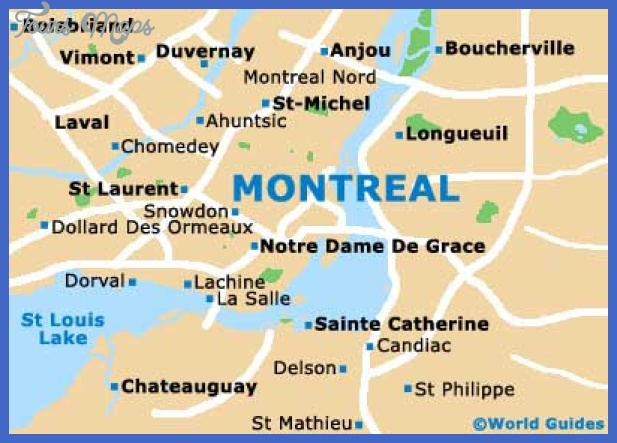 montreal Montreal. Map Tourist Attractions