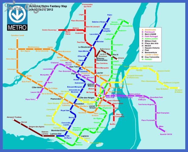 montreal metro proposal Montreal. Metro Map