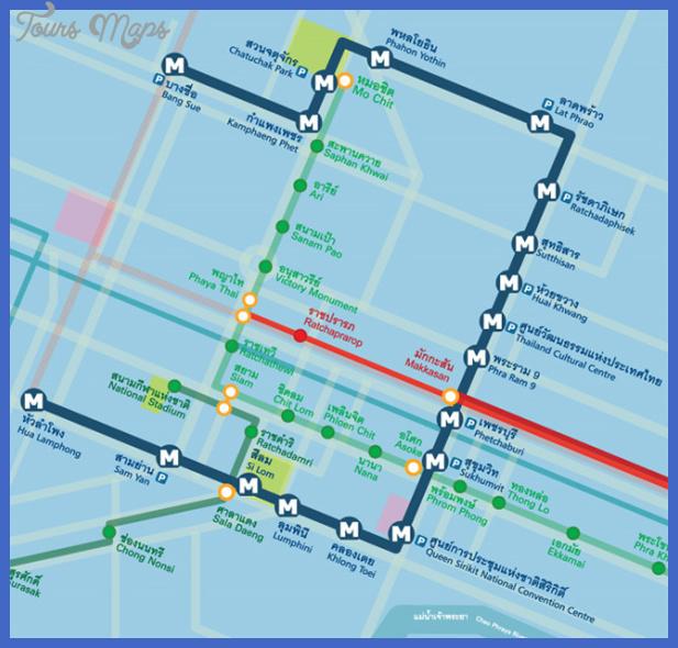 mrt map Bangkok Subway Map