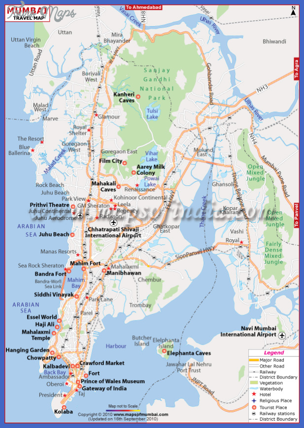 mumbai travel map Mumbai Map Tourist Attractions
