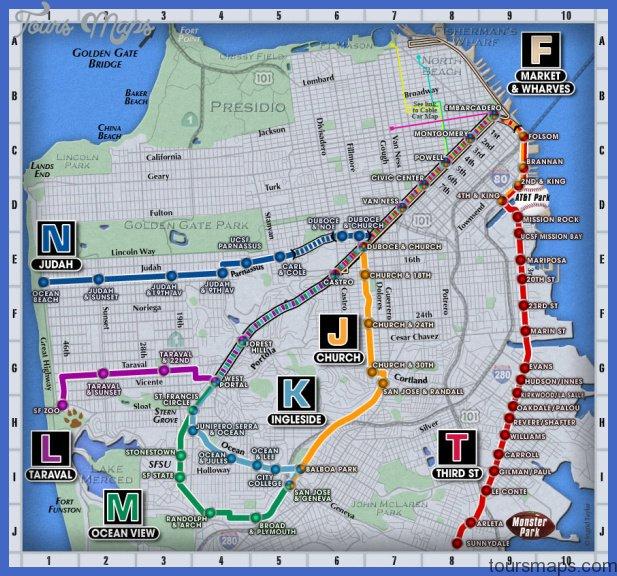 San FranciscoOakland Metro Map Map Travel Holiday Vacations - Us muni map