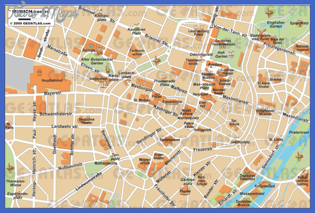 Munich Map - ToursMaps.com ®