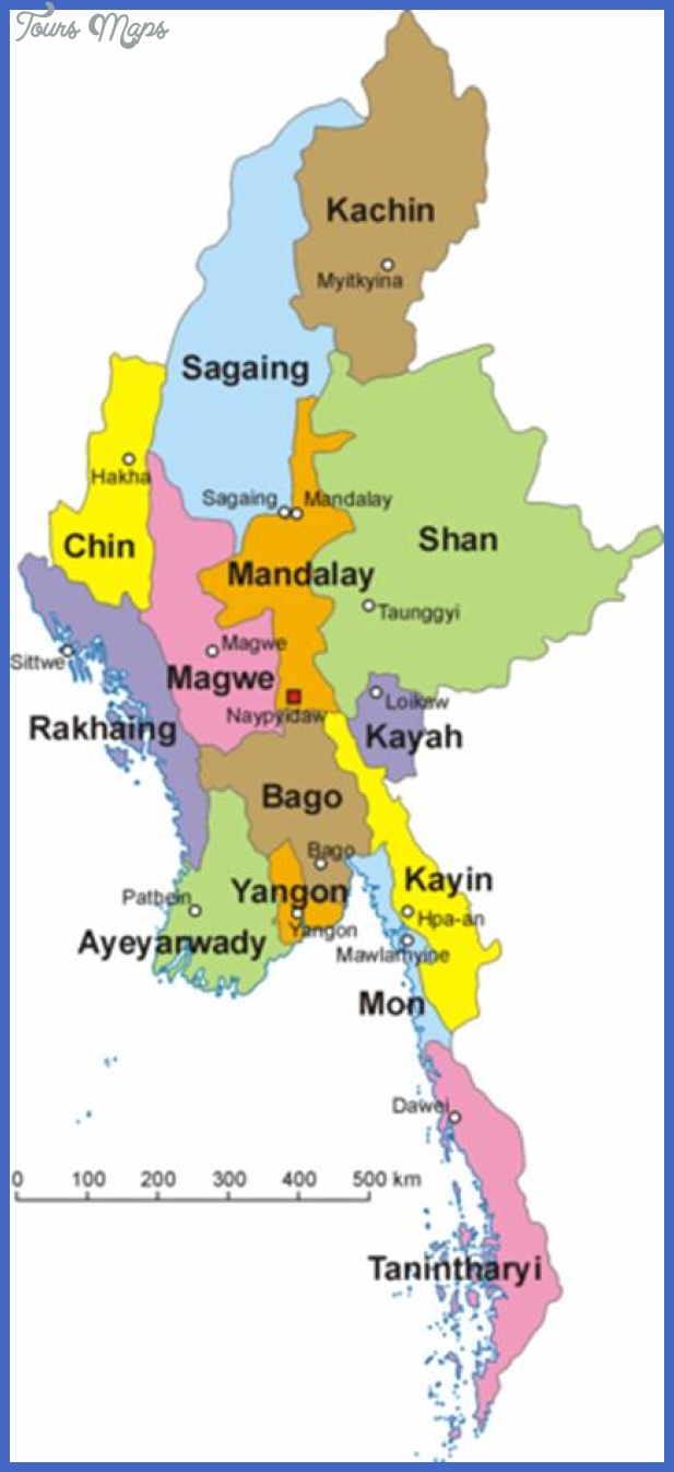 myanmarstatesmap Burma Map