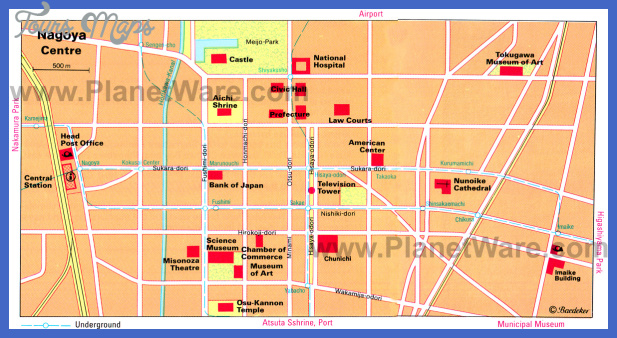 nagoya map tourist attractions  3 Nagoya Map Tourist Attractions