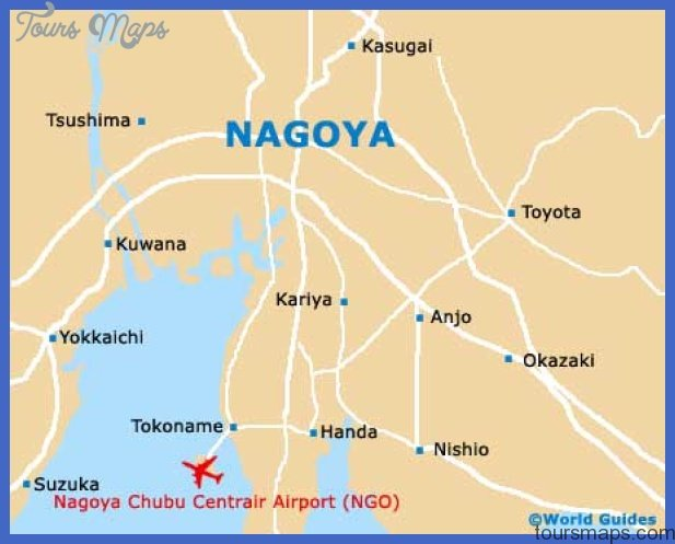 nagoya city map Nagoya Map Tourist Attractions