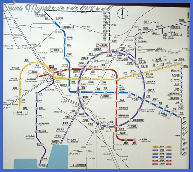 nagoya subway map Nagoya Metro Map