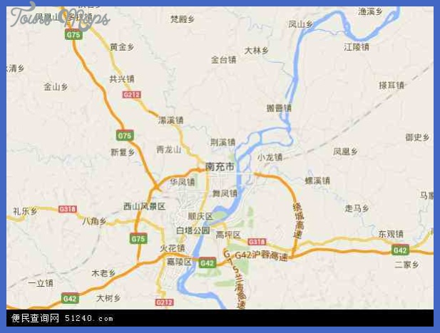 nanchong map  11 Nanchong Map