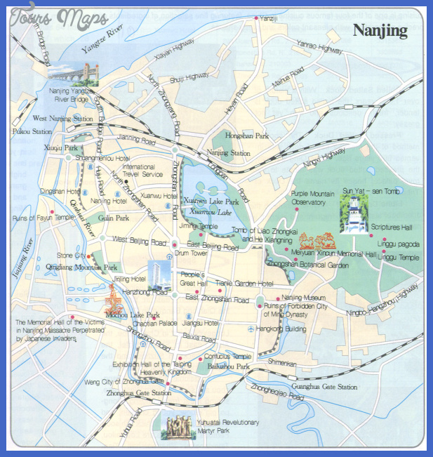 nanjing map tourist attractions  4 Nanjing Map Tourist Attractions