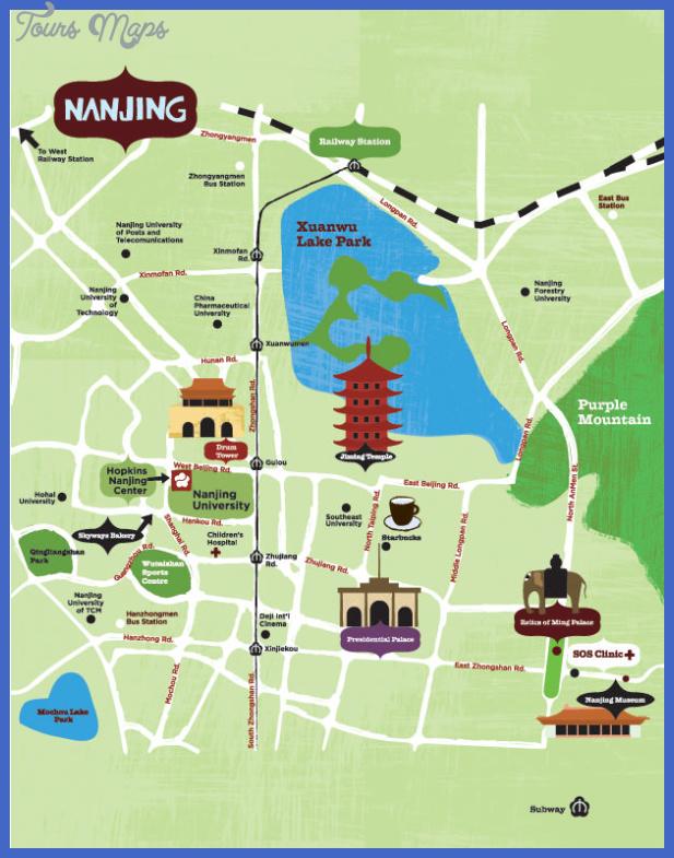 nanjing tourist map China Map Tourist Attractions