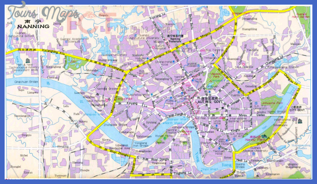nanning map tourist attractions  0 Nanning Map Tourist Attractions