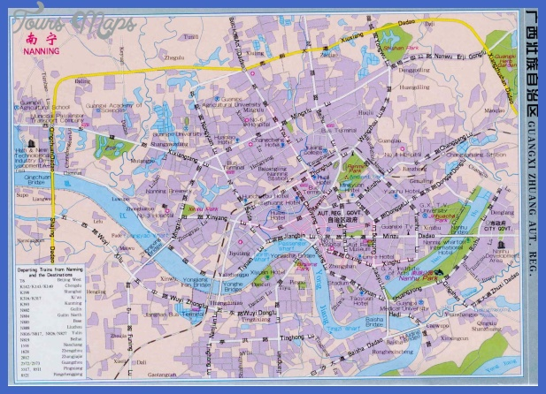 nanning map tourist attractions  1 Nanning Map Tourist Attractions