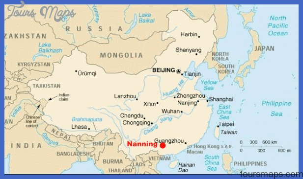 nanning map tourist attractions  6 Nanning Map Tourist Attractions