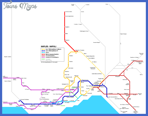 Naples Subway Map.Naples Subway Map Toursmaps Com