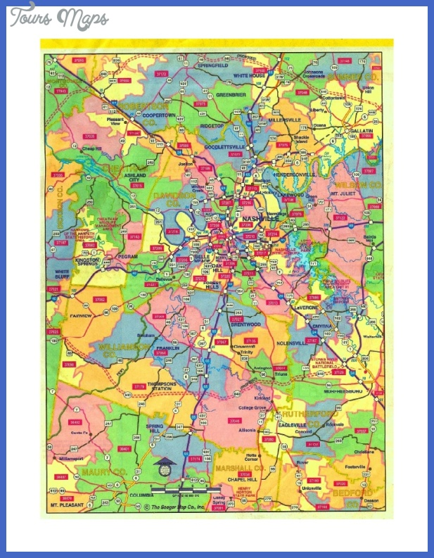 nashville zip code map 1 728 cb1259643457 Nashville Davidson Map