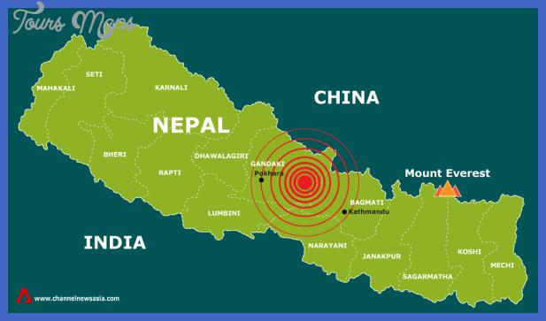 Nepal Map Toursmaps Com
