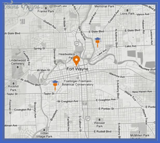 new fort wayne map Fort Wayne Metro Map