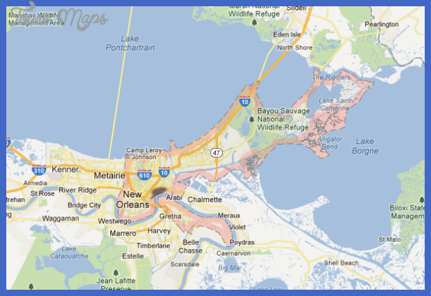 New Orleans Map Tourist Attractions  Map  Travel