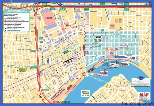 New Orleans Map Tourist Attractions ToursMapsCom – Tourist Attractions Map In New Orleans