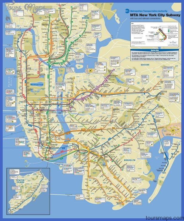 Mta Metro North Subway Map.New York Metro Subway Map Toursmaps Com