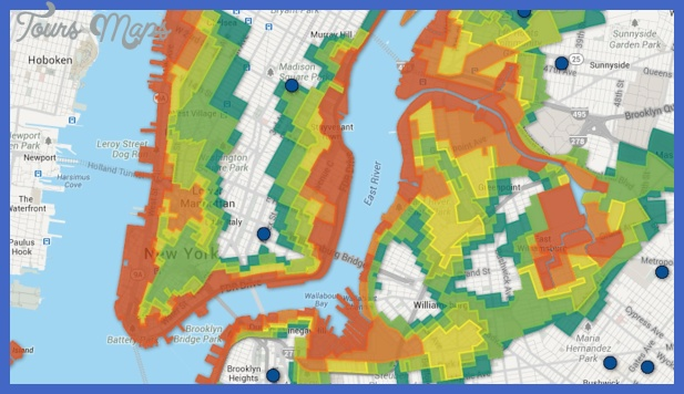 New York city zoning map   ToursMaps.®