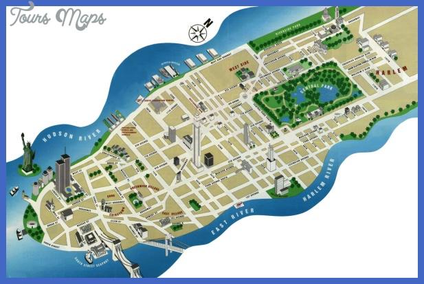 new york map for tourists  7 New York map for tourists