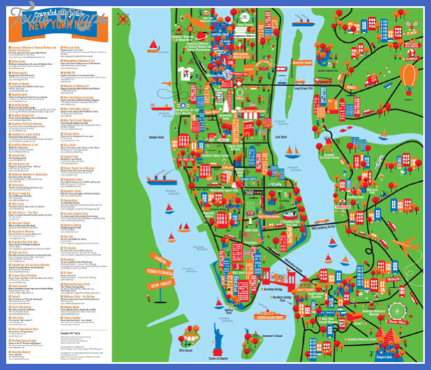 new york map tourist attractions  1 New York Map Tourist Attractions