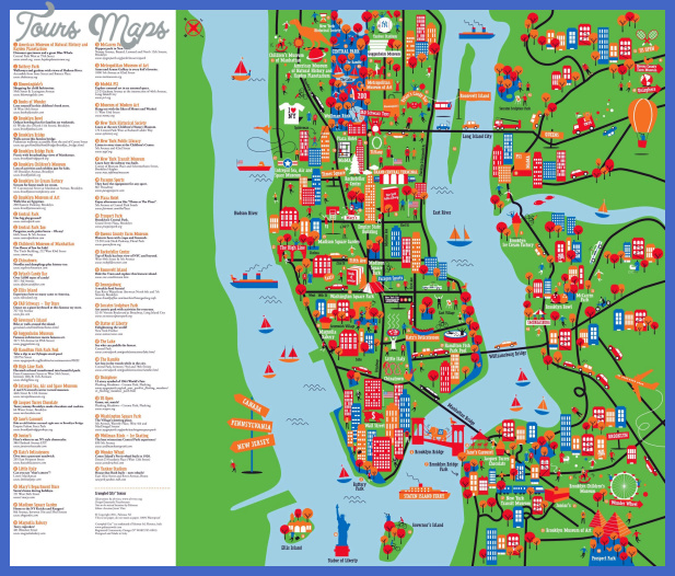 new york map tourist attractions  4 New York Map Tourist Attractions