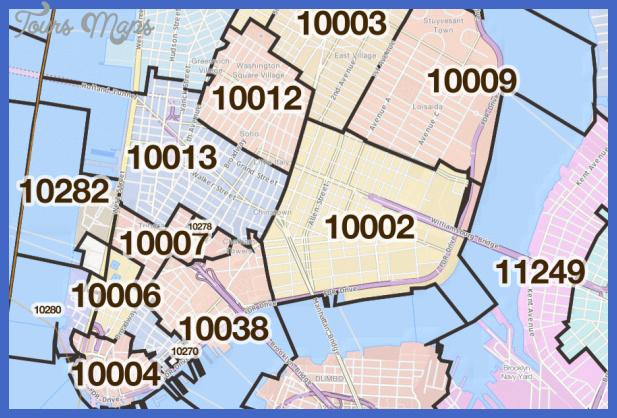 New York Map Zip Codes