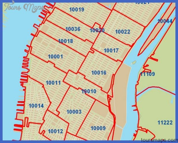 New York zip code map   ToursMaps.®