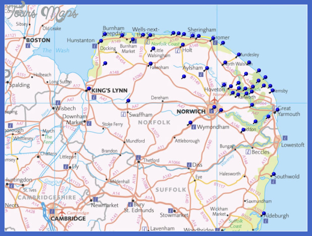 norfolkmapins Norfolk Map