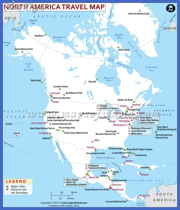 north america travel map 1 Madagascar Map Tourist Attractions
