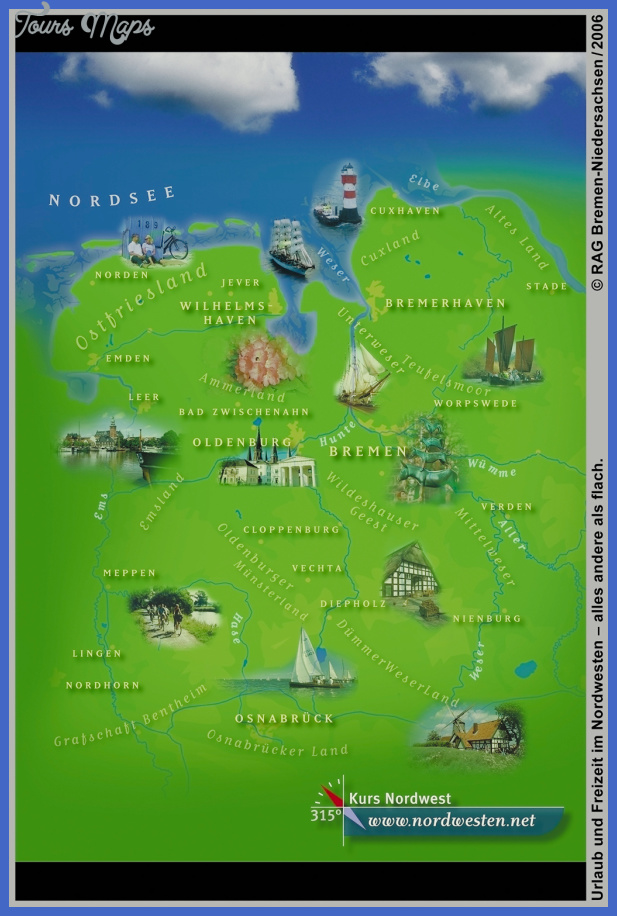 northwest germany tourist map Germany Map Tourist Attractions