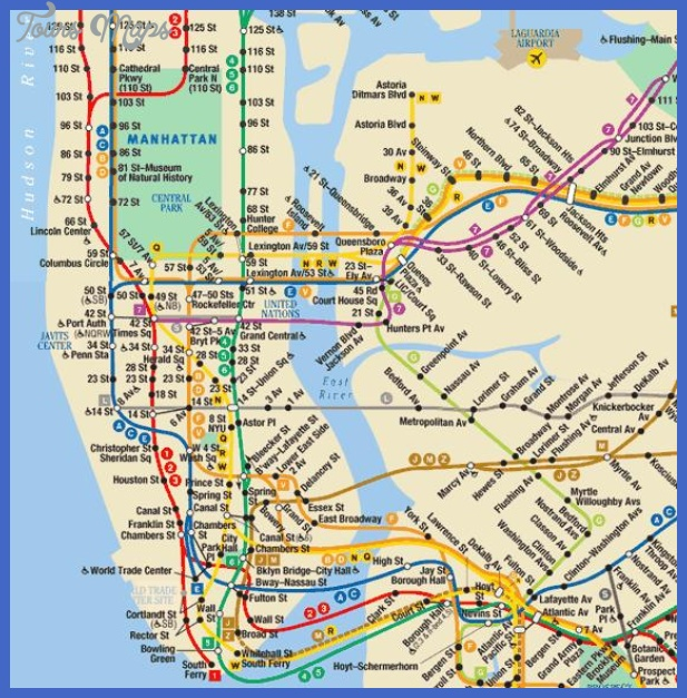nyc subway map manhattan brooklyn Henderson Metro Map