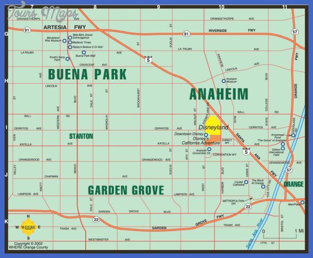 oc map anaheim2 Anaheim Map