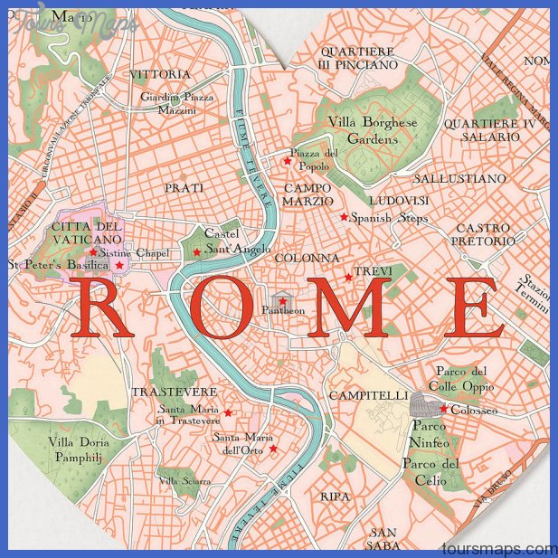 original rome map heart print Rome Map