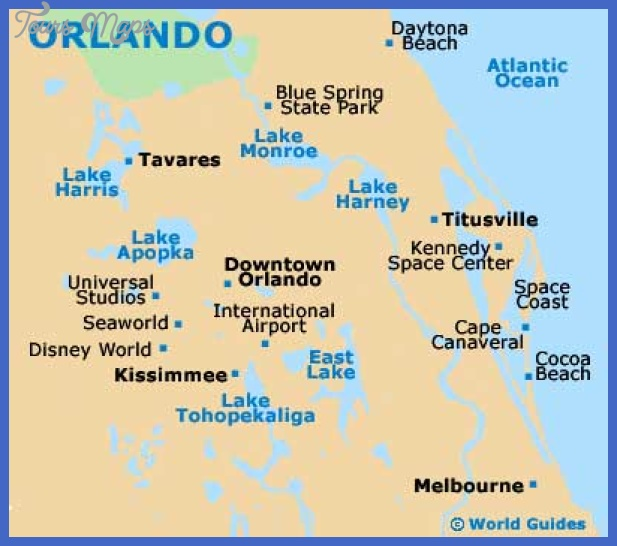 orlando map Garland Map Tourist Attractions