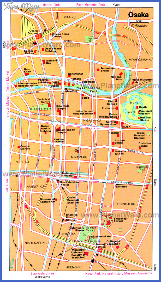 osaka map Fukuoka Map Tourist Attractions